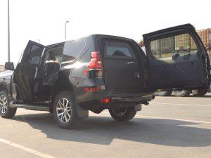 armored prado rear view